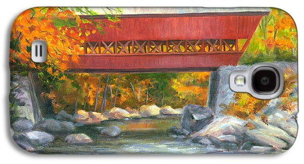 Covered Bridge Paintings Galaxy S4 Cases - Conway Covered Bridge #47 Galaxy S4 Case by Elaine Farmer
