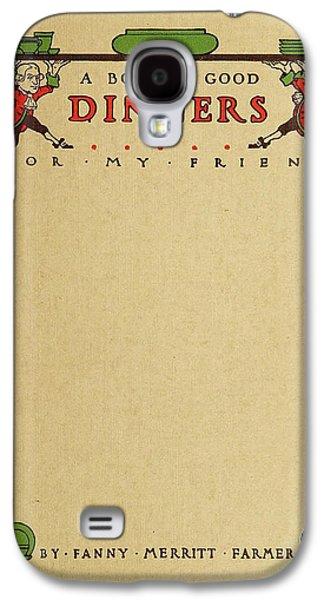Cookbook, 1914 Galaxy S4 Case by Granger