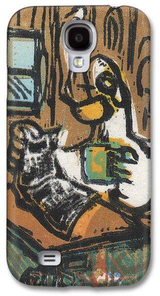 Lino Paintings Galaxy S4 Cases - Cooked Goose Galaxy S4 Case by Mathew Luebbert