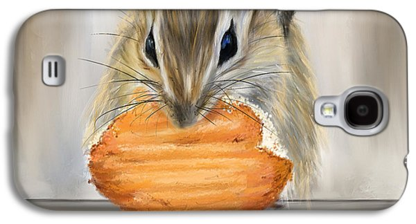 Cookie Time- Squirrel Eating A Cookie Galaxy S4 Case by Lourry Legarde