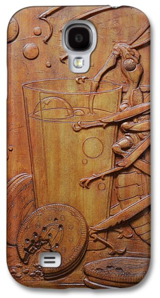 Relief Sculpture Reliefs Galaxy S4 Cases - Cookies and Milk Galaxy S4 Case by Jeremiah Welsh
