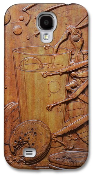 Bas Relief Reliefs Galaxy S4 Cases - Cookies and Milk Galaxy S4 Case by Jeremiah Welsh