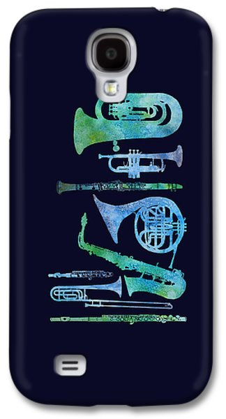 Cool Blue Band Galaxy S4 Case by Jenny Armitage