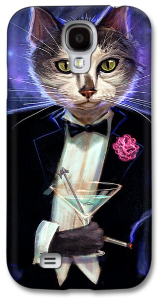 Ties Galaxy S4 Cases - Cool cat Galaxy S4 Case by Jeff Haynie