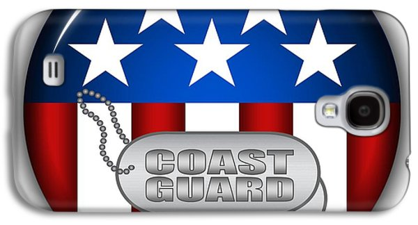 Recently Sold -  - 4th July Galaxy S4 Cases - Cool Coast Guard Insignia Galaxy S4 Case by Pamela Johnson