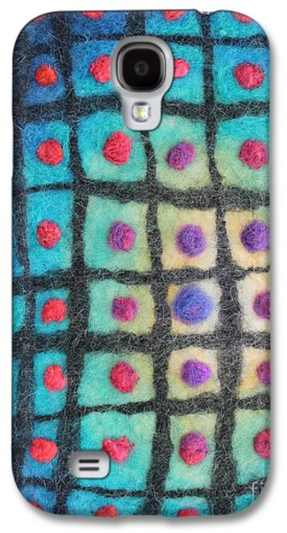 Blue Abstracts Tapestries - Textiles Galaxy S4 Cases - Cool Light Warm Shadow Galaxy S4 Case by Michelle Bowers