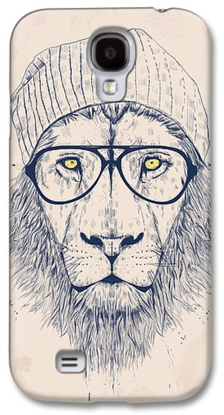 Drawings Galaxy S4 Cases - Cool lion Galaxy S4 Case by Balazs Solti