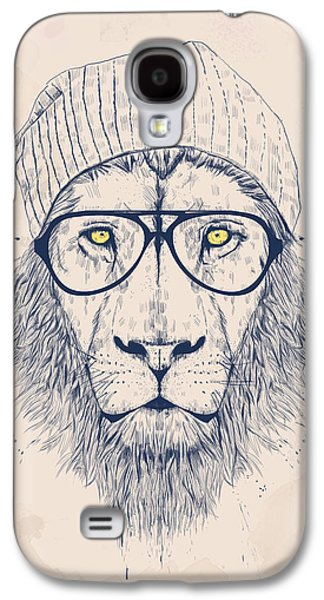 Animals Drawings Galaxy S4 Cases - Cool lion Galaxy S4 Case by Balazs Solti