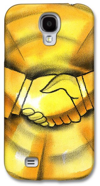 Enterprise Paintings Galaxy S4 Cases - Cooperation Galaxy S4 Case by Leon Zernitsky