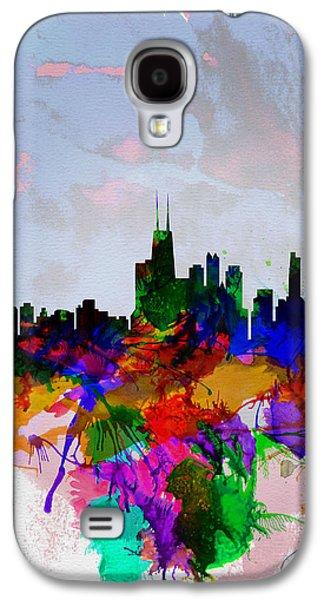 European City Digital Art Galaxy S4 Cases - Copenhagen Watercolor Skyline Galaxy S4 Case by Naxart Studio