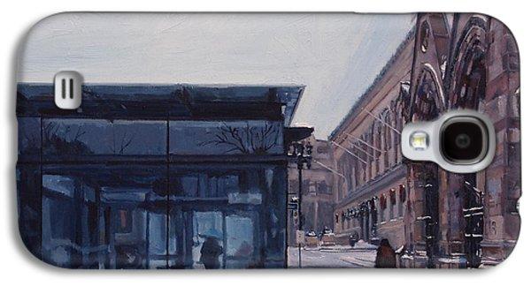Boston Paintings Galaxy S4 Cases - Copley Winter Galaxy S4 Case by Deb Putnam