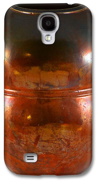 Copper Ceramics Galaxy S4 Cases - Copper Penny Gloss 2 Galaxy S4 Case by Chris Tennis