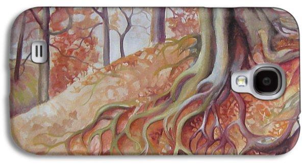 Tree Roots Galaxy S4 Cases - Copper rustle Galaxy S4 Case by Elena Oleniuc