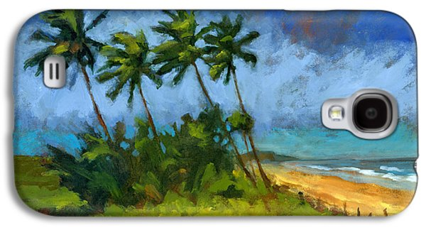 Windblown Paintings Galaxy S4 Cases - Coqueiros de Massarandupio Galaxy S4 Case by Douglas Simonson