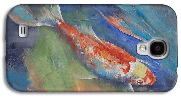Butterfly Koi Galaxy S4 Cases - Coral and Moonstone Galaxy S4 Case by Michael Creese
