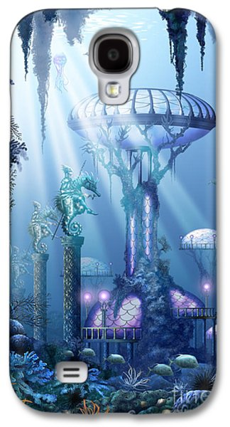Dolphin Digital Galaxy S4 Cases - Coral city   Galaxy S4 Case by Ciro Marchetti