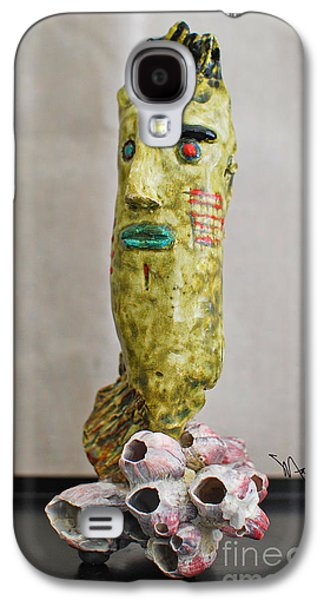Person Ceramics Galaxy S4 Cases - Coral Surfing Galaxy S4 Case by Art Mantia