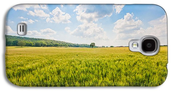 Tuscan Hills Galaxy S4 Cases - Cornfield in Tuscany Galaxy S4 Case by JR Photography