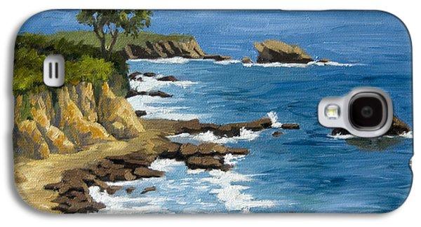 Beach Landscape Galaxy S4 Cases - Corona del Mar California Galaxy S4 Case by Alice Leggett