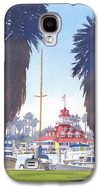 Yacht Galaxy S4 Cases - Coronado Boathouse and Palms Galaxy S4 Case by Mary Helmreich