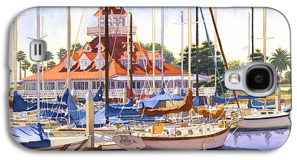 Coronado Boathouse Galaxy S4 Case by Mary Helmreich