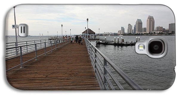 Gas Lamp Photographs Galaxy S4 Cases - Coronado Pier Overlooking The San Diego Skyline 5D24353 Galaxy S4 Case by Wingsdomain Art and Photography