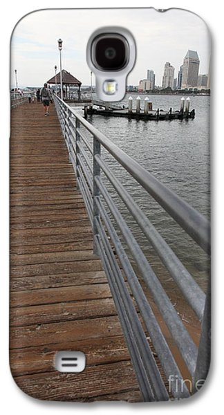 Gas Lamp Photographs Galaxy S4 Cases - Coronado Pier Overlooking The San Diego Skyline 5D24354 Galaxy S4 Case by Wingsdomain Art and Photography