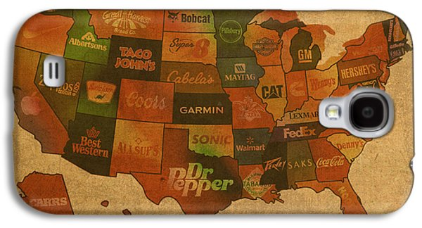 Map Galaxy S4 Cases - Corporate America Map Galaxy S4 Case by Design Turnpike