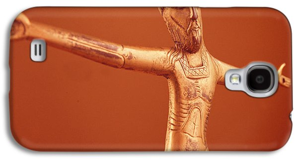 Jesus Photographs Galaxy S4 Cases - Corpus Christi, C.1240 Bronze Gilt Galaxy S4 Case by French School