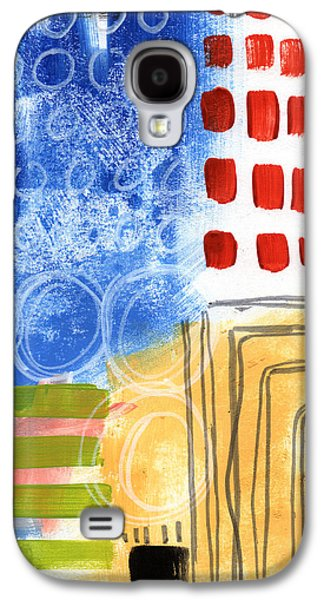 Contemporary Abstract Mixed Media Galaxy S4 Cases - Corridor- Colorful Contemporary Abstract Painting Galaxy S4 Case by Linda Woods