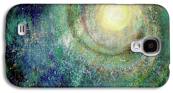Outer Space Pastels Galaxy S4 Cases - Cosmic Breath Galaxy S4 Case by NARI - Mother Earth Spirit