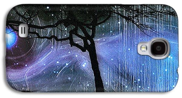 Abstract Movement Galaxy S4 Cases - Cosmic Night Galaxy S4 Case by Linda Sannuti