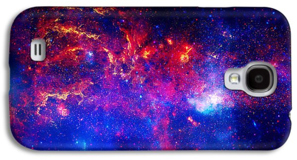 Stellar Paintings Galaxy S4 Cases - Cosmic Storm in The Milky Way Galaxy S4 Case by Celestial Images