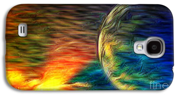 Storm Prints Mixed Media Galaxy S4 Cases - Cosmic Strom Galaxy S4 Case by M and L Creations