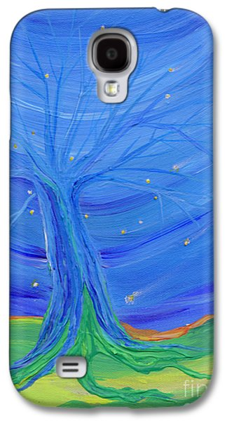 Subconscious Paintings Galaxy S4 Cases - Cosmic Tree Galaxy S4 Case by First Star Art