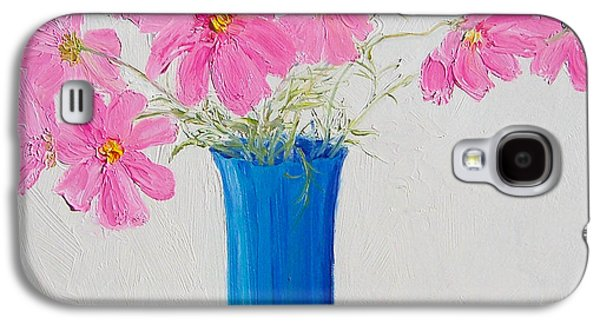Cosmos Paintings Galaxy S4 Cases - Cosmos flowers Galaxy S4 Case by Jan Matson
