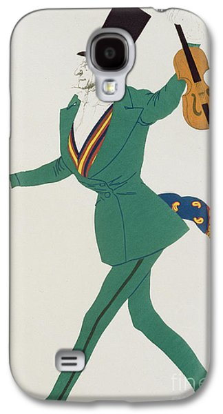 Reproduction Galaxy S4 Cases - Costume design for Paganini in The Enchanted Night Galaxy S4 Case by Leon Bakst