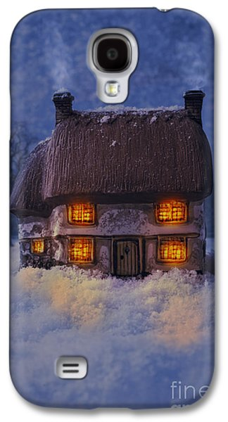 Snowy Evening Galaxy S4 Cases - Cosy Country Cottage Galaxy S4 Case by Amanda And Christopher Elwell