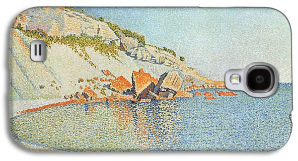 Pointillist Paintings Galaxy S4 Cases - Cote dAzur Galaxy S4 Case by Paul Signac