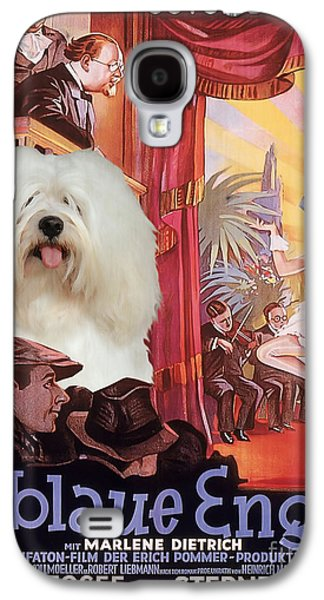 Coton Galaxy S4 Cases - Coton de Tulear Art - Der Blaue Engel Movie Poster Galaxy S4 Case by Sandra Sij