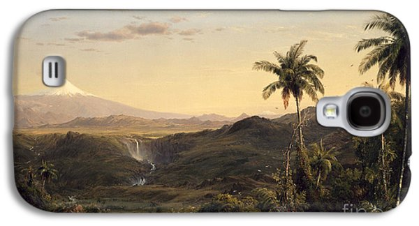 Sunset Posters Galaxy S4 Cases - Cotopaxi Galaxy S4 Case by Frederic Edwin Church