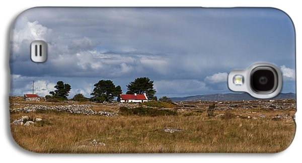 Farmscape Galaxy S4 Cases - Cottage And Rocky Barren Landscape Galaxy S4 Case by Panoramic Images