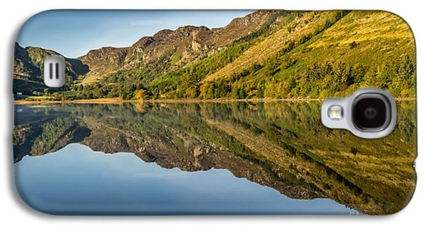 Autumn Landscape Digital Art Galaxy S4 Cases - Cottage by the Lake Galaxy S4 Case by Adrian Evans