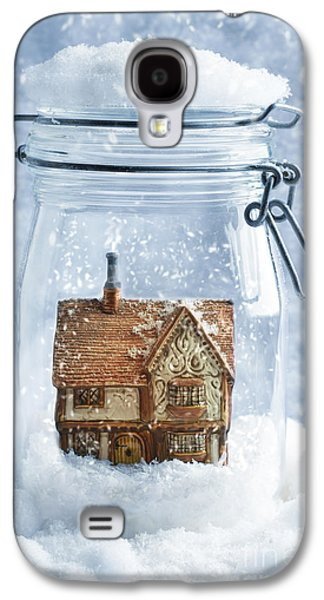 Country Cottage Galaxy S4 Cases - Cottage Snowglobe Galaxy S4 Case by Amanda And Christopher Elwell