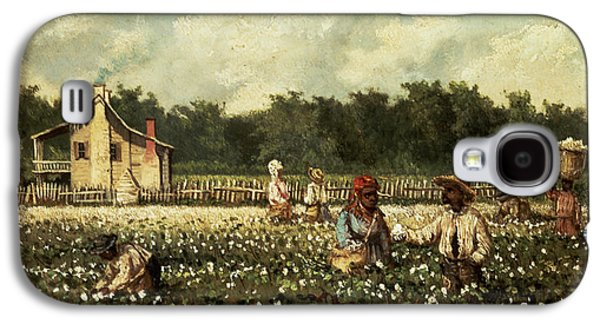 Slaves Galaxy S4 Cases - Cotton Field, Mississippi Oil On Panel Galaxy S4 Case by William Aiken Walker
