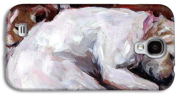 Mixed Labrador Retriever Galaxy S4 Cases - Cottonball Galaxy S4 Case by Molly Poole