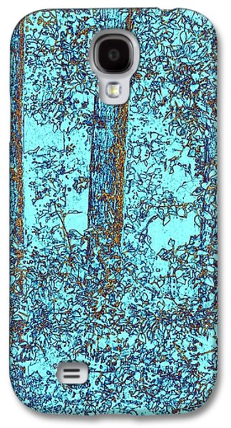Abstract Digital Galaxy S4 Cases - Cottonwood Sanctuary Galaxy S4 Case by Will Borden