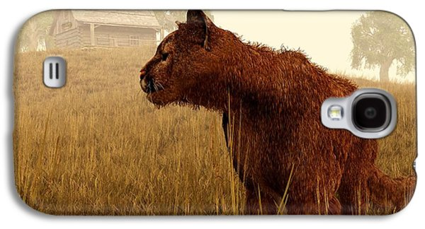 Cougar In A Field Galaxy S4 Case by Daniel Eskridge