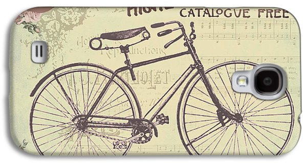 Water Dogs Mixed Media Galaxy S4 Cases - Coulmbias Bicycle Company Vintage artwork Galaxy S4 Case by Art World