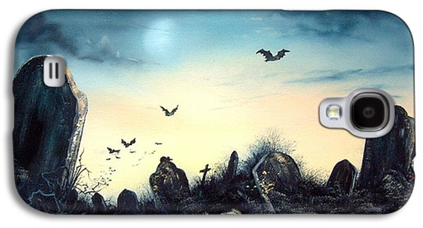 Headstones Paintings Galaxy S4 Cases - Count the Eyes Galaxy S4 Case by Jean Walker